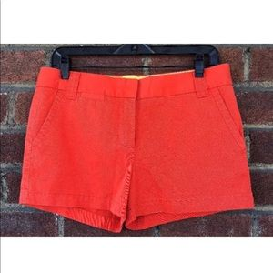 NWT $44 J. Crew City fit red chino shorts size 6